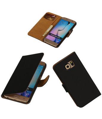 Hoesje voor Samsung Galaxy Grand Max Effen Booktype Wallet Zwart