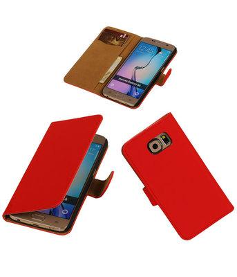 Hoesje voor Samsung Galaxy Grand Max Effen Booktype Wallet Rood