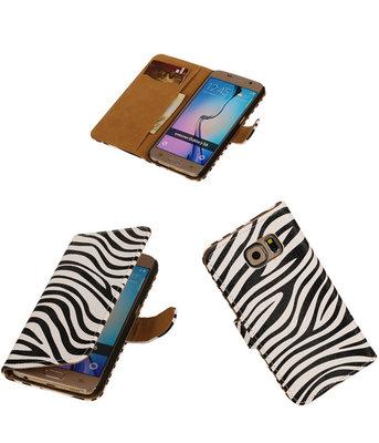 Hoesje voor Samsung Galaxy Grand Max Zebra Booktype Wallet