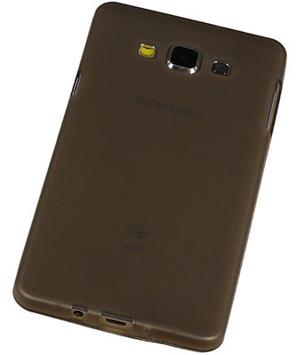 "Hoesje voor Samsung Galaxy A7 2015 TPU Transparant Grijs â"" Back Case Bumper Hoes Cover"