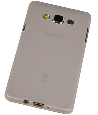 Samsung Galaxy A7 2015 TPU Hoesje Transparant Wit – Back Case Bumper Hoes Cover