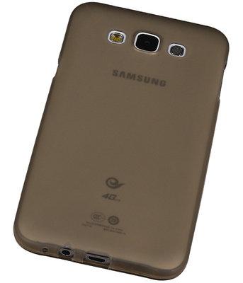 Samsung Galaxy E5 TPU Hoesje Transparant Grijs – Back Case Bumper Hoes Cover