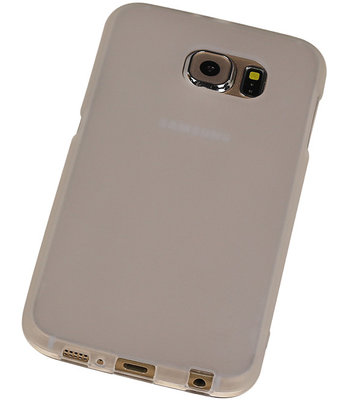 Hoesje voor Samsung Galaxy S6 TPU Transparant Wit