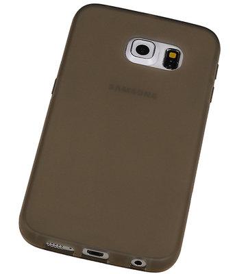 Hoesje voor Samsung Galaxy S6 edge TPU Transparant Grijs