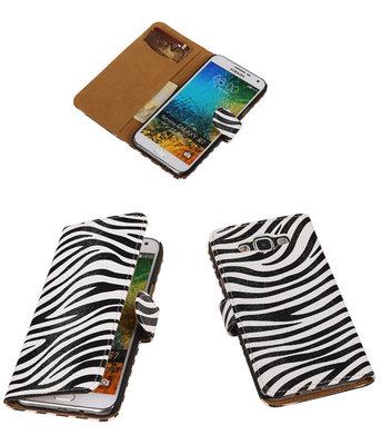 Zebra Bookcover Hoesje Samsung Galaxy E5