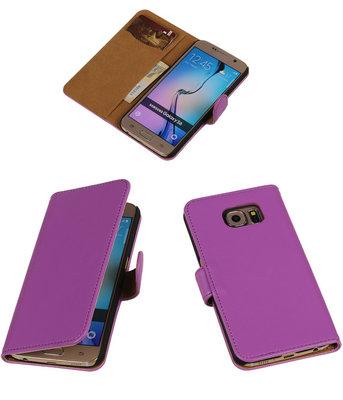 Hoesje voor Samsung Galaxy S6 Leder Look - Paars