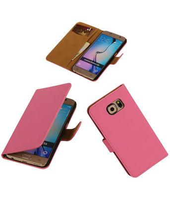 Hoesje voor Samsung Galaxy S6 Leder Look - Roze
