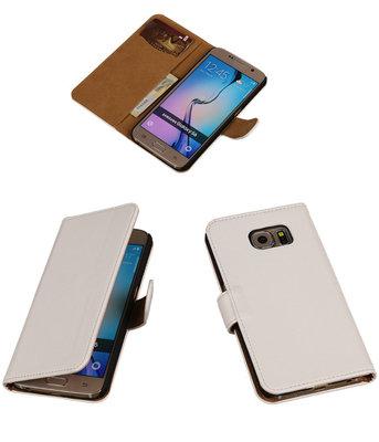 Hoesje voor Samsung Galaxy S6 Leder Look - Wit