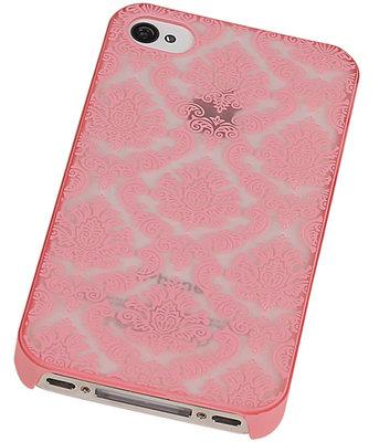 Hoesje voor Apple iPhone 4/4S - Brocant Hardcase Roze