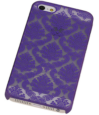 Apple iPhone 5/5S - Brocant Hardcase Hoesje Paars