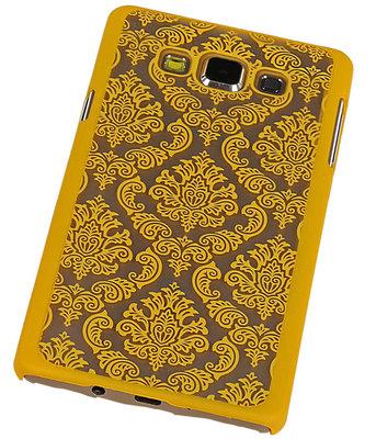 Hoesje voor Samsung Galaxy A7 2015 - Brocant Hardcase Geel