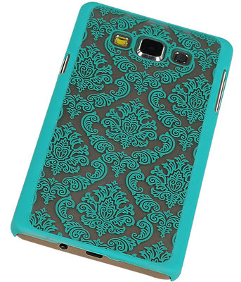Hoesje voor Samsung Galaxy A7 2015 - Brocant Hardcase Turquoise