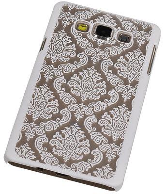 Hoesje voor Samsung Galaxy A7 2015 - Brocant Hardcase Wit
