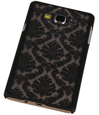 Hoesje voor Samsung Galaxy A7 2015 - Brocant Hardcase Zwart