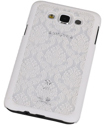Samsung Galaxy E7 - Brocant Hardcase Hoesje Wit