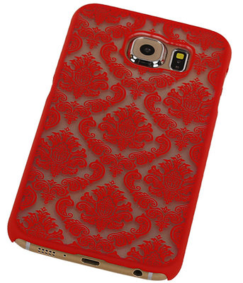 Samsung Galaxy S6 - Brocant Hardcase Hoesje Rood