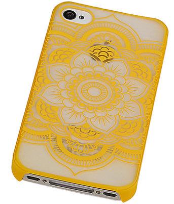 Hoesje voor Apple iPhone 4/4S - Roma Hardcase Geel