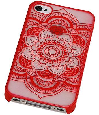 Hoesje voor Apple iPhone 4/4S - Roma Hardcase Rood