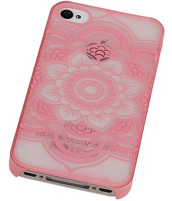 Hoesje voor Apple iPhone 4/4S - Roma Hardcase Roze