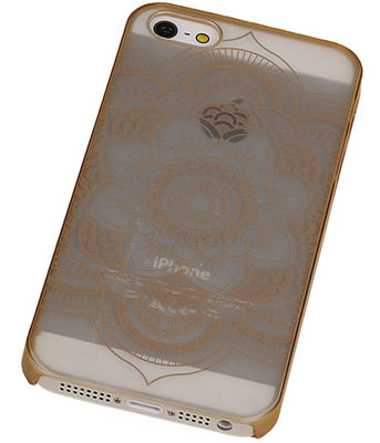 Apple iPhone 5/5S - Roma Hardcase Hoesje Goud