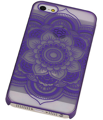 Apple iPhone 5/5S - Roma Hardcase Hoesje Paars
