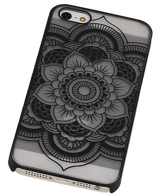 Hoesje voor Apple iPhone 5/5S - Roma Hardcase Zwart