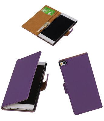 Hoesje voor Huawei P8 Paars Booktype