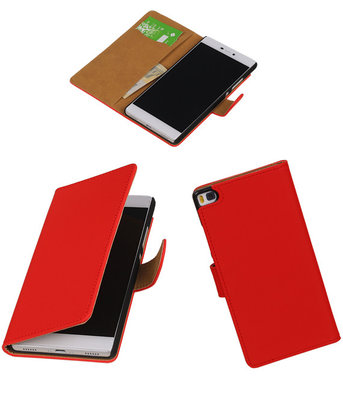 Hoesje voor Huawei P8 Rood Booktype