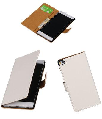 Hoesje voor Huawei P8 Wit Booktype
