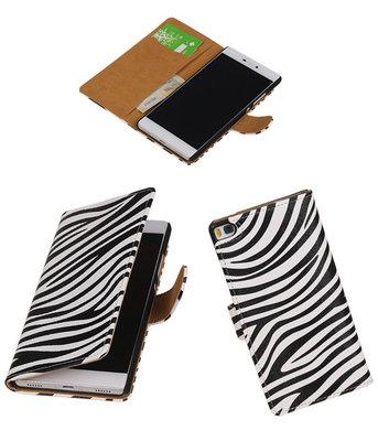 Hoesje voor Huawei P8 Zebra Booktype