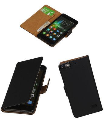 Hoesje voor Huawei Honor 4C Booktype Zwart