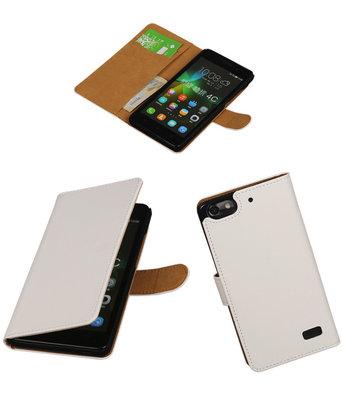 Hoesje voor Huawei Honor 4C Booktype Wit