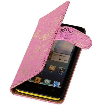 Hoesje voor Apple iPhone 5c - Roze Lace Kant Design