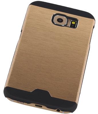 Lichte Aluminium Hardcase Hoesje voor Samsung Galaxy S6 G920F Goud