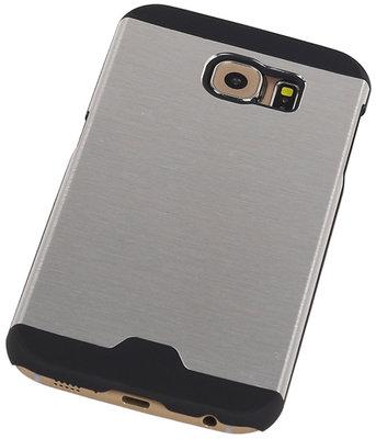 Lichte Aluminium Hardcase Hoesje voor Samsung Galaxy S6 G920F Zilver