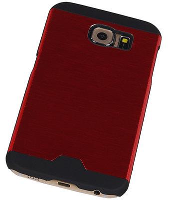 Lichte Aluminium Hardcase Hoesje voor Samsung Galaxy S6 G920F Rood