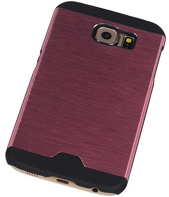 Lichte Aluminium Hardcase Hoesje voor Samsung Galaxy S6 G920F Roze