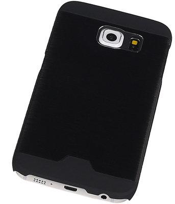 Lichte Aluminium Hardcase Hoesje voor Samsung Galaxy S6 Edge G925 Zwart