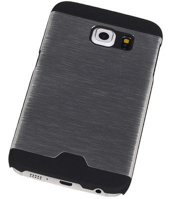 Lichte Aluminium Hardcase Hoesje voor Samsung Galaxy S6 Edge G925 Zilver