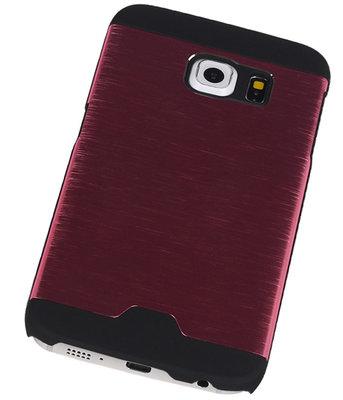 Lichte Aluminium Hardcase Hoesje voor Samsung Galaxy S6 Edge G925 Roze