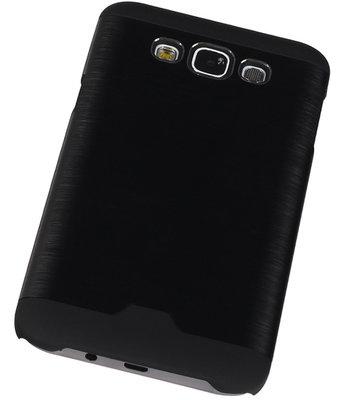 Lichte Aluminium Hardcase Hoesje voor Samsung Galaxy E7 Zwart