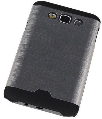 Lichte Aluminium Hardcase Hoesje voor Samsung Galaxy E7 Zilver