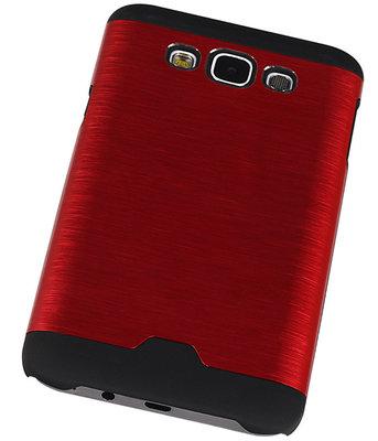 Lichte Aluminium Hardcase Hoesje voor Samsung Galaxy E7 Rood