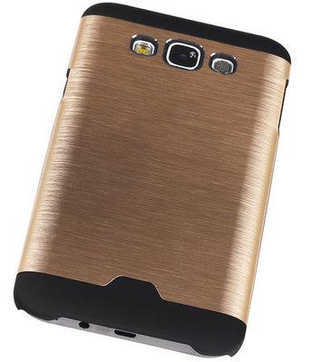 Lichte Aluminium Hardcase Hoesje voor Samsung Galaxy E7 Goud