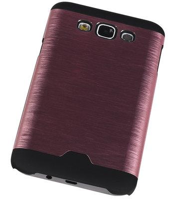 Lichte Aluminium Hardcase Hoesje voor Samsung Galaxy E7 Roze