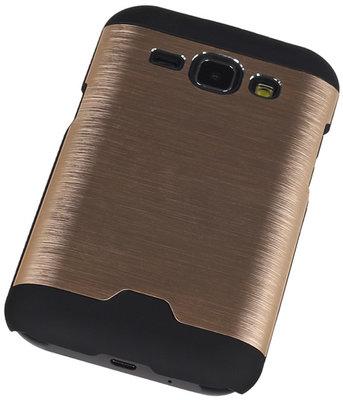 Lichte Aluminium Hardcase Samsung Galaxy J1 2015 Goud