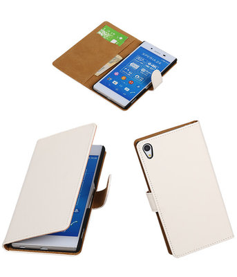 Hoesje voor Sony Xperia Z4/Z3 Plus Booktype Wallet Wit