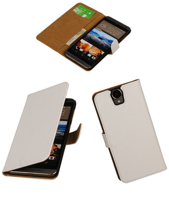 Hoesje voor HTC One E9 Plus Booktype Wit