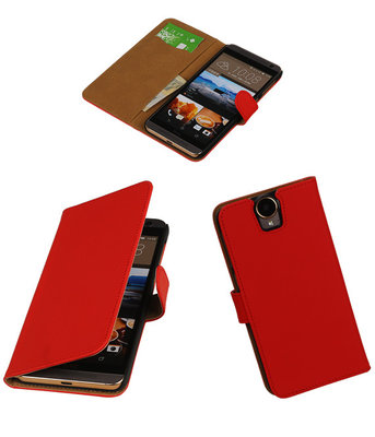 Hoesje voor HTC One E9 Plus Booktype Rood