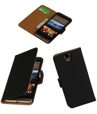 Hoesje voor HTC One E9 Plus Booktype Zwart